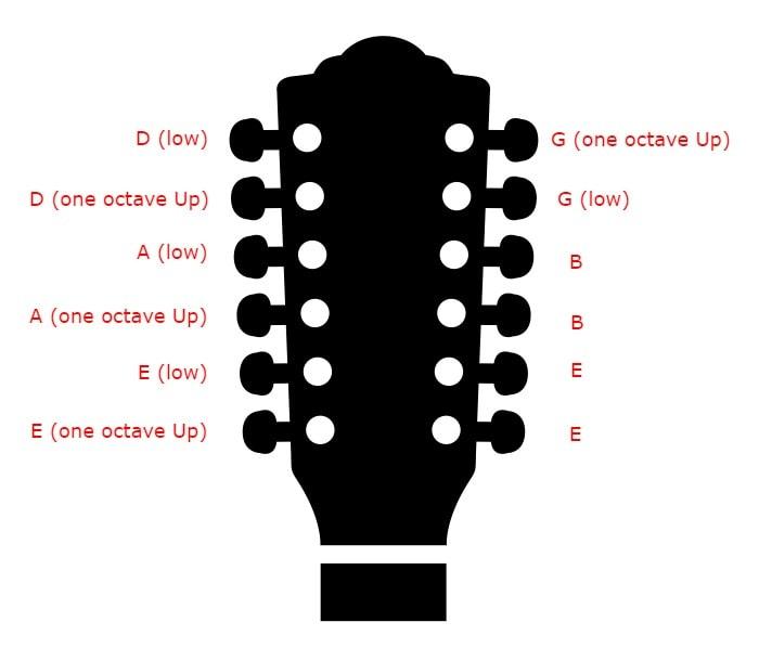 12 string Tuning - Standard