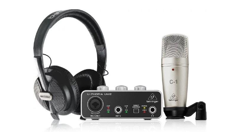 Best Home Recording Studio Packages -  Behringer U-Phoria Studio Recording Bundle