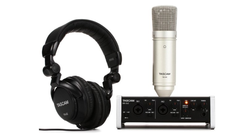 Best Home Recording Studio Packages -  TASCAM Trackpack Recording Interface Package