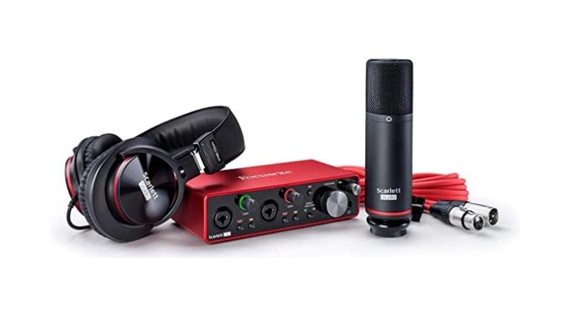 Best Home Recording Studio Packages - Focusrite Scarlett 2i2 bundle