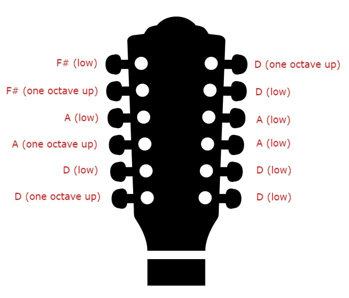 12 string Tuning - Open D